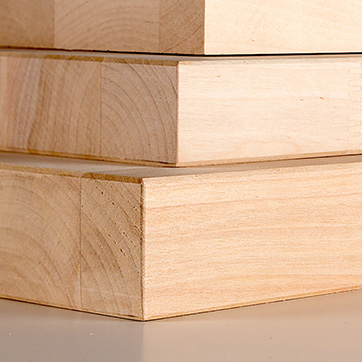 Glulam boards for the staircase industry